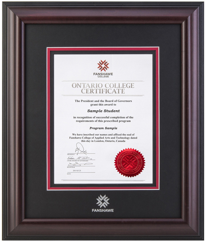 Fanshawe College Diploma Frames – Diploma Frames Online Store